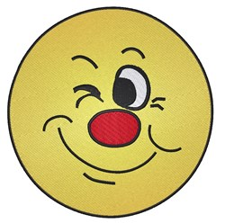 Smiley Wink embroidery design