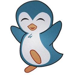 Happy Penguin embroidery design