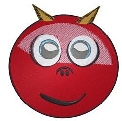 Devil Smiley embroidery design