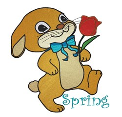 Spring Bunny embroidery design