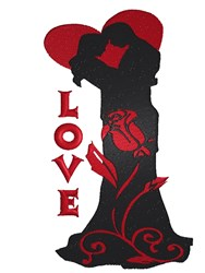 Love Couple embroidery design