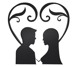 Couple In Heart embroidery design