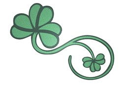 Pretty Clover Swirl embroidery design