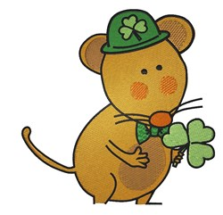 St.Patricks Day Mouse embroidery design
