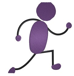 Stick Figure Runner embroidery design