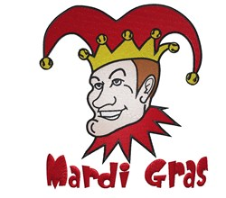 Mardi Gras Joker embroidery design