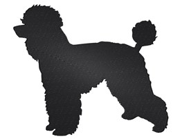 Poodle Silhouette embroidery design