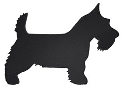 Scottish Terrier Silhouette embroidery design