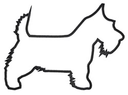 Scottish Terrier Outline embroidery design
