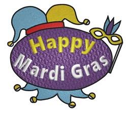 Happy Mardi Gras embroidery design