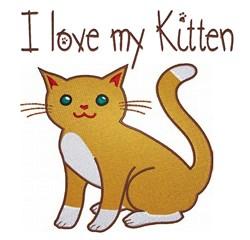 I love My Kitten embroidery design