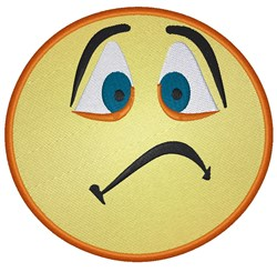 Sad Face Emoji embroidery design