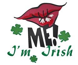 Kiss Me Im Irish embroidery design