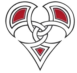 Twined Heart embroidery design