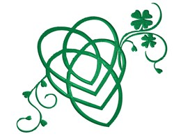 Clover Heart Swirl embroidery design