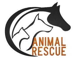 Animal Rescue embroidery design