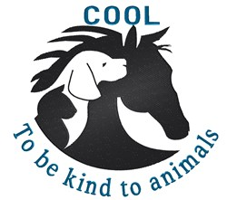 Be Kind To Animals embroidery design