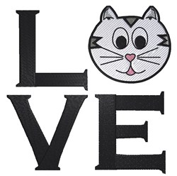 Love Kitty embroidery design
