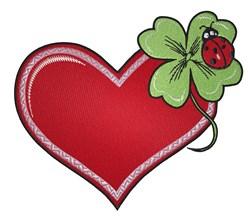 Ladybug On Heart embroidery design