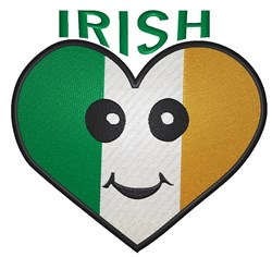 Happy Irish Heart embroidery design