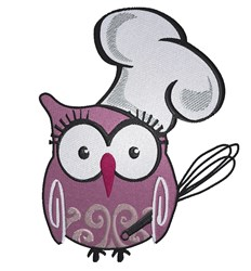 Owl Chef embroidery design