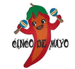 Cinco De Mayo Pepper embroidery design