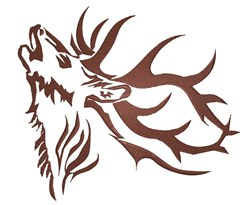 Elk Antlers Tattoo embroidery design