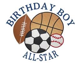 All-Star Birthday Boy embroidery design