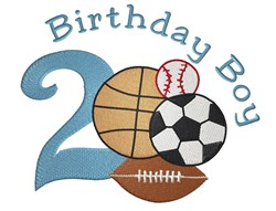 Birthday Boy 2 embroidery design