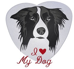 Border Collie Love embroidery design