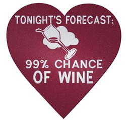 Wine Forecast embroidery design
