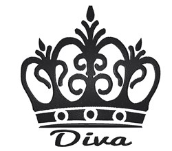 Diva Tiara embroidery design