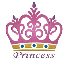 Princess Tiara embroidery design