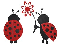 Ladybugs embroidery design