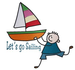 Lets Go Sailing embroidery design