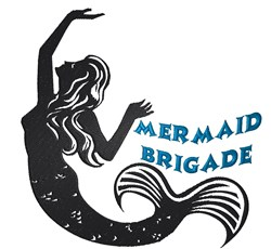 Mermaid Brigade embroidery design