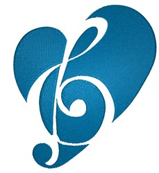 Musical Heart embroidery design