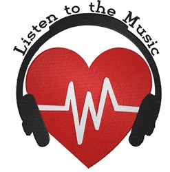 Listen To The Music embroidery design