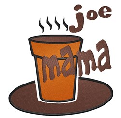Joe Mama embroidery design
