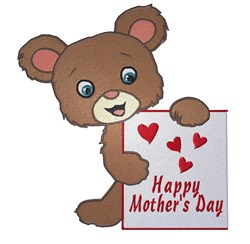 Mothers Day Bear embroidery design