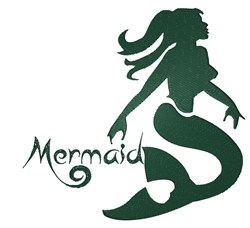 Mermaid Stencil embroidery design