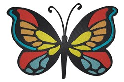 Colored Butterfly Stencil embroidery design