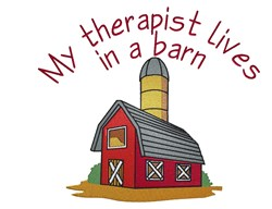 Therapist Lives In A Barn embroidery design