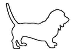 Basset Hound Outline embroidery design
