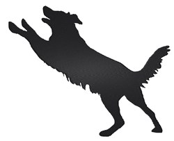 Playful Dog Silhouette embroidery design