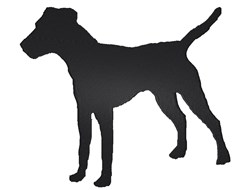 Jack Russell Terrier Silhouette embroidery design