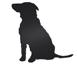 Sitting Dog Silhouette embroidery design