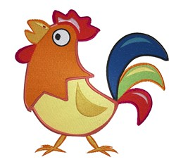 Cartoon Rooster embroidery design