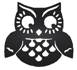 Halloween Owl Silhouette embroidery design