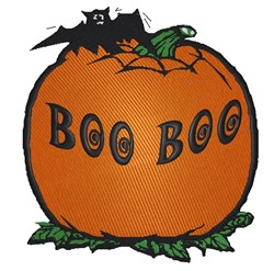 Boo Boo Pumpkin embroidery design